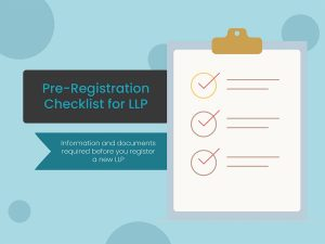 Pre registration checklist for LLP